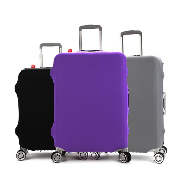 (สีพื้นเรียบ ขนาด S) ผ้าคลุมกระเป๋าเดินทาง ขนาด 18 - 20 นิ้ว มี 3 สีให้เลือก (ดำ ม่วง เทา)