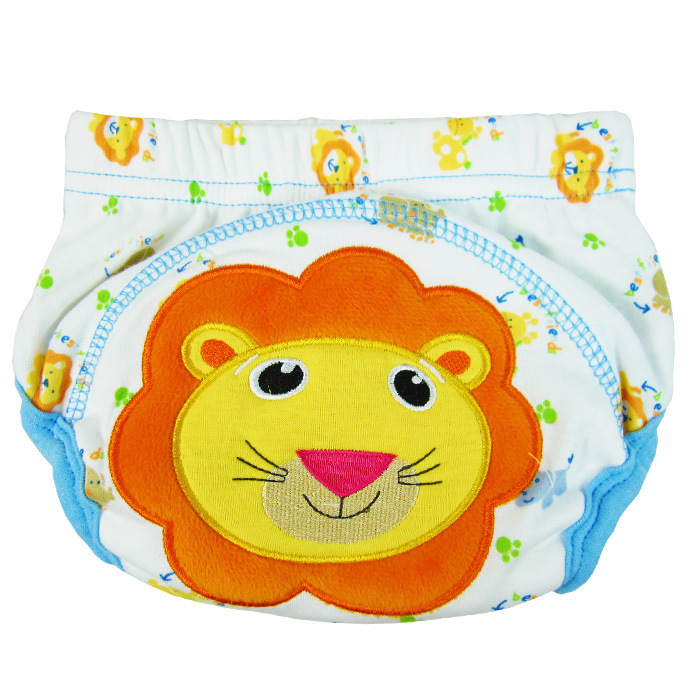 กางเกงผ้าอ้อมซับฉี่เด็ก Training Pant ลายสิงโต size 80 90 100