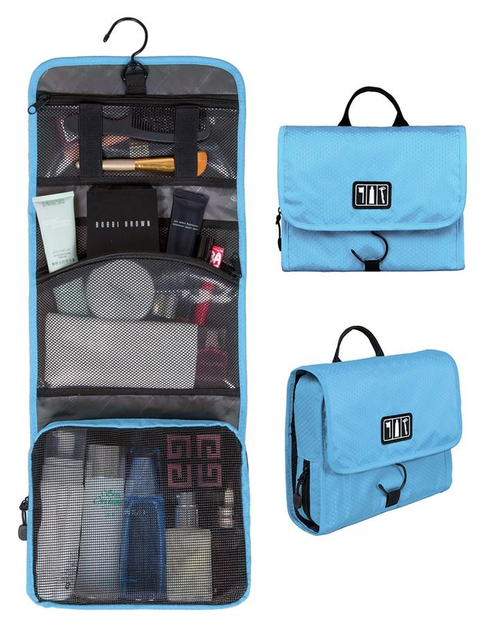 กระเป๋าใส่อุปกรณ์อาบน้ำ คุณภาพสูง ใส่อุปกรณ์อาบน้ำ แขวนได้ สำหรับเดินทาง ท่องเที่ยว (สีฟ้า)
