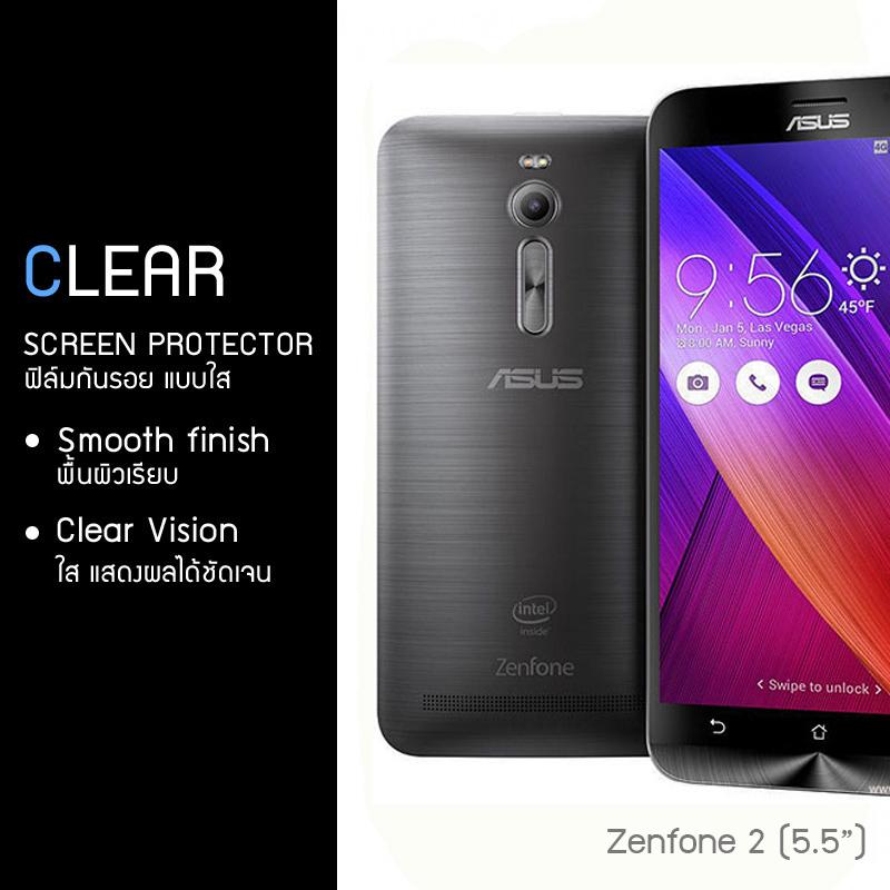 """ฟิล์มกันรอย ASUS Zenfone 2 (5.5"""") แบบใส"""