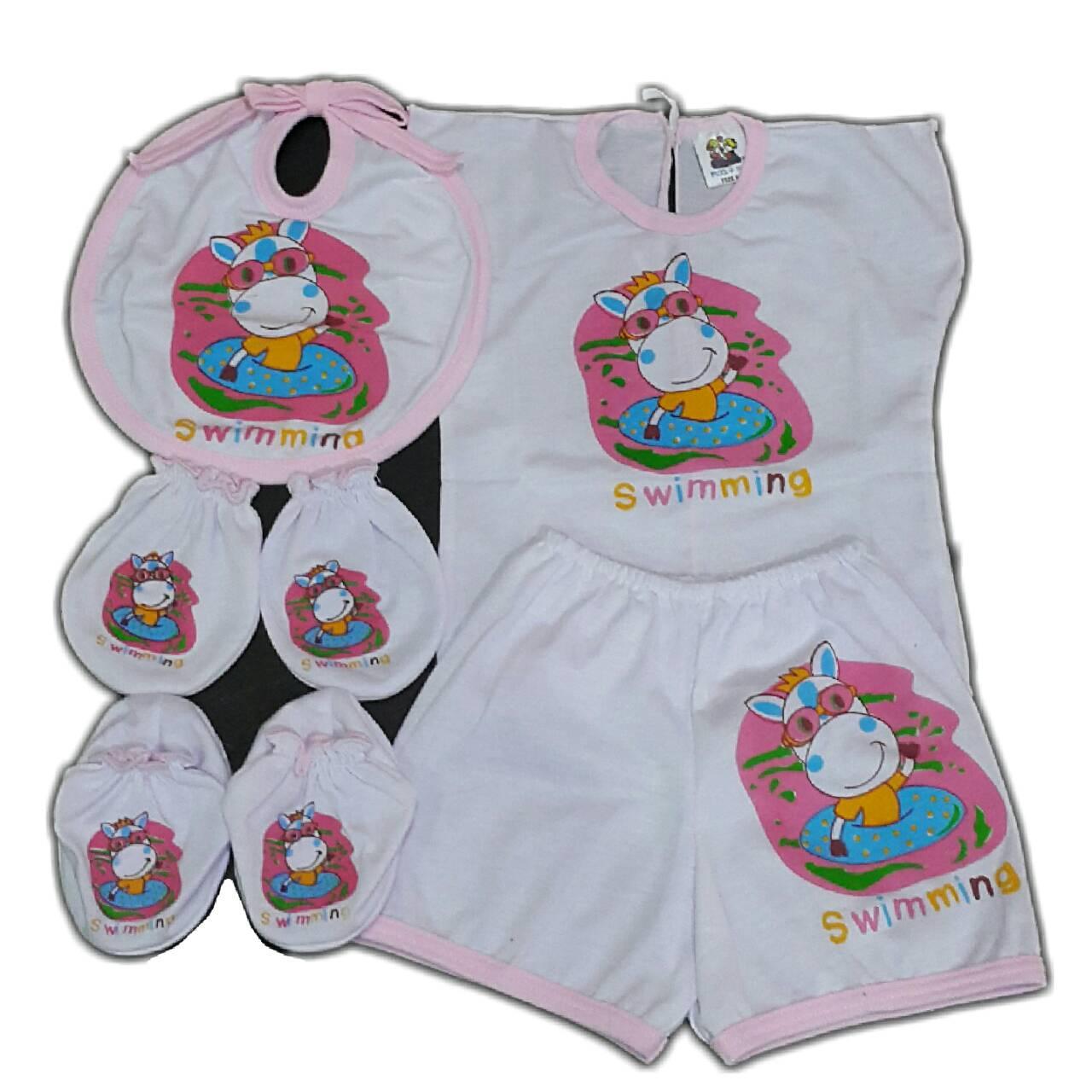 ชุดเด็กอ่อน C-004 เซ็ท 7 ชิ้น - Pink