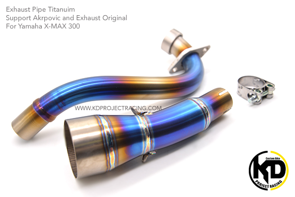 คอท่อ Titanuim 2in1 for Yamaha X-MAX 300