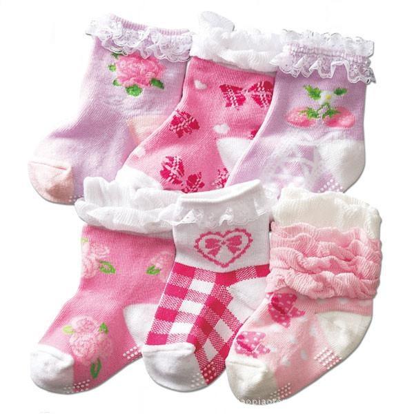 ถุงเท้าเด็กหญิง น่ารักสวยหวาน มีกันลื่น สำหรับวัยหัดเดิน 1-3 ปี