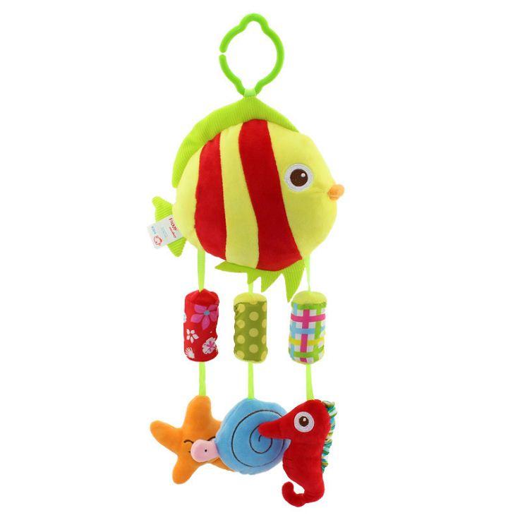 ตุ๊กตาโมบายผ้าเสริมพัฒนาการ ปลาน้อยและผองเพื่อน - HappyMonkey