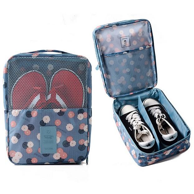 DINIWELL กระเป๋าใส่รองเท้าสำหรับเดินทาง หรือเล่นกีฬา ผลิตจากโพลีเอสเตอร์คุณภาพดี กันน้ำ มี 5 สี 5 ลายให้เลือก