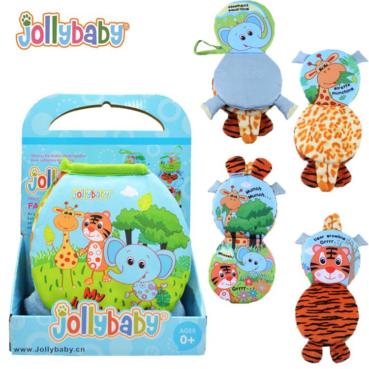 หนังสือผ้า 3 มิติ สัตว์โลกน่ารัก Jollybaby Farm&Jungle Animal 3D Book