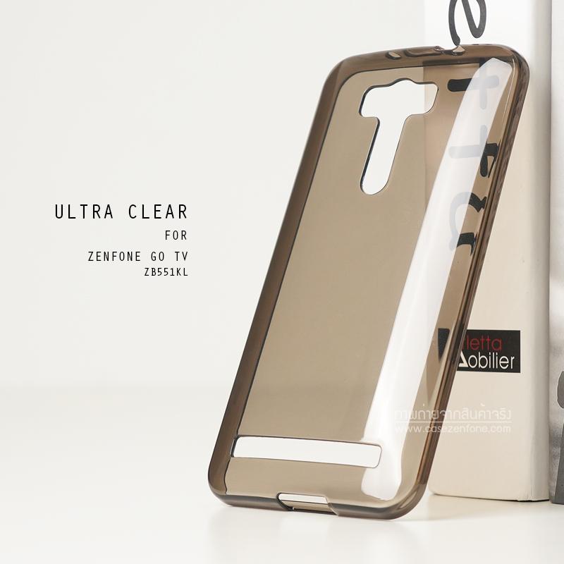 """เคส Zenfone GO TV 5.5"""" (ZB551KL) เคสนิ่ม ULTRA CLEAR พร้อมจุดขนาดเล็กป้องกันเคสติดกับตัวเครื่อง สีดำใส"""