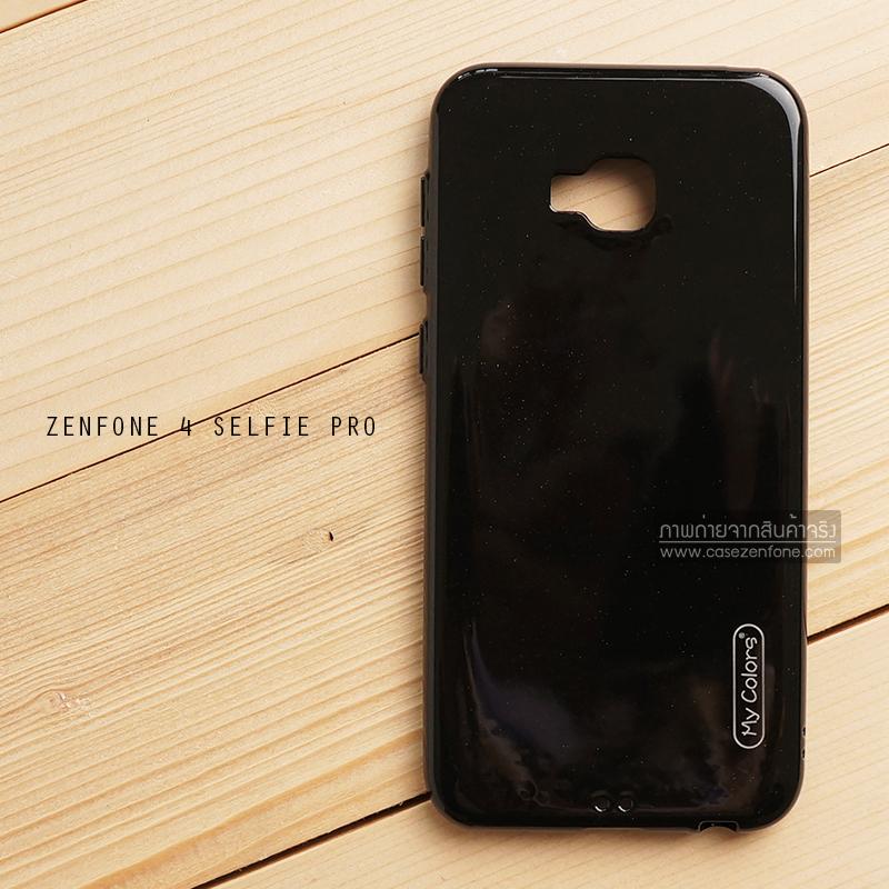 เคส Zenfone 4 Selfie Pro (ZD552KL) เคสนิ่มผิวเงา (MY COLORS) สีดำ