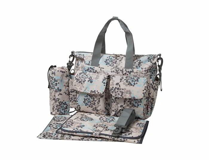 Ecosusi กระเป๋าสัมภาระสำหรับคุณแม่ กระเป๋าใส่ผ้าอ้อม แขวนรถเข็นเด็กได้ หิ้ว หรือสะพายไหล่ได้ (Grey)