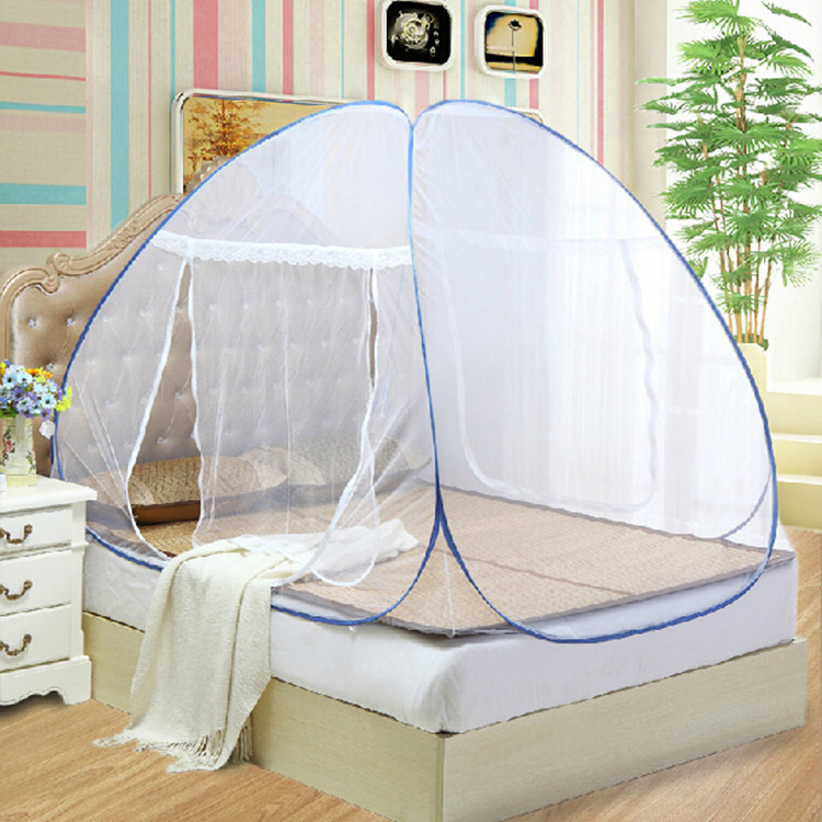 มุ้งกันยุงสำหรับเตียงนอนขนาด 6 ฟุต (180*200 cm) แบบเต้นท์กระโจม