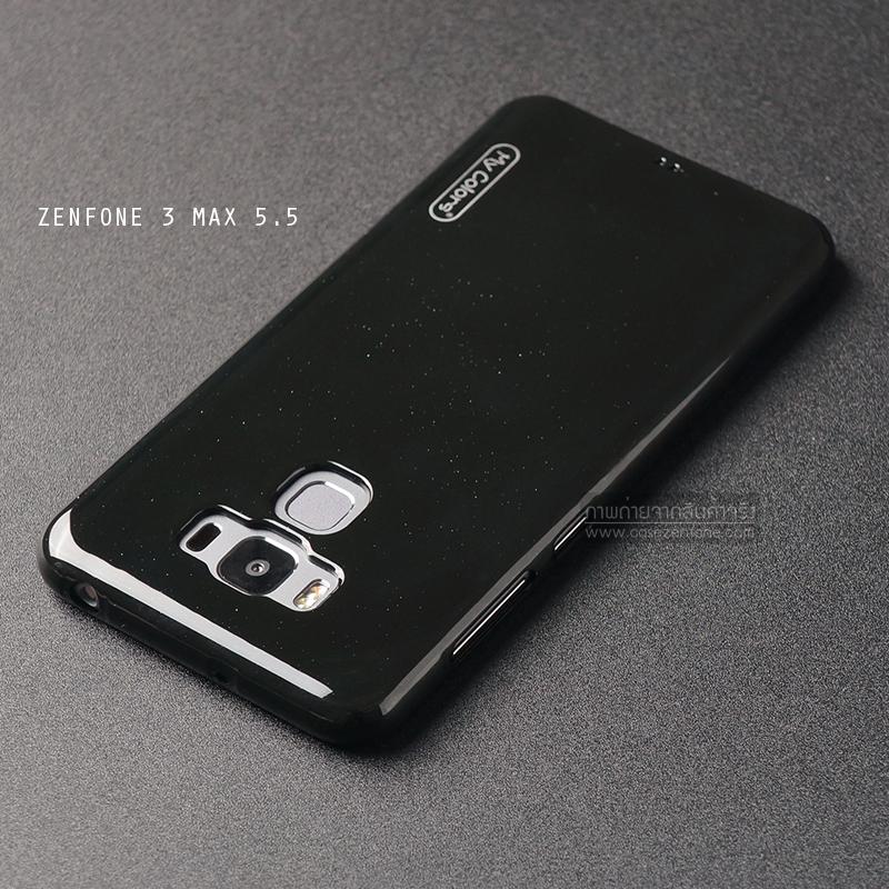 """เคส Zenfone 3 Max ZC553KL (5.5"""" นิ้ว) เคสนิ่มผิวเงา (MY COLORS) สีดำ"""