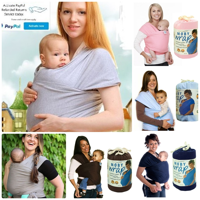 ผ้าอุ้มทารก เป้ผ้าอุ้มเด็ก Moby Wrap เบาสบาย กระจายน้ำหนัก
