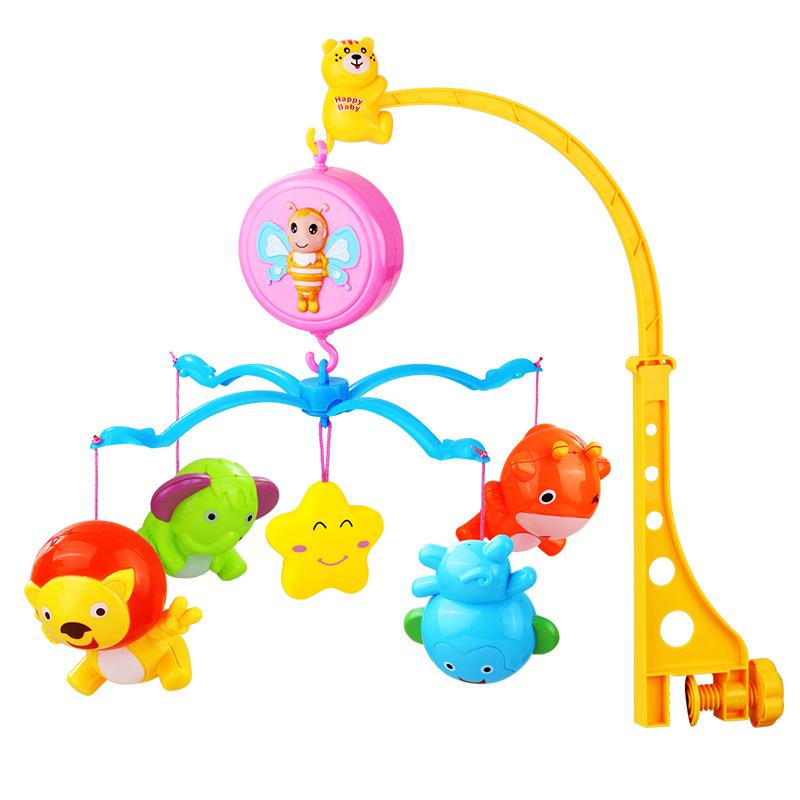 ชุดโมบายของเล่น ใส่ถ่านหมุนอัตโนมัติ พร้อมอุปกรณ์ติดเปลเด็ก