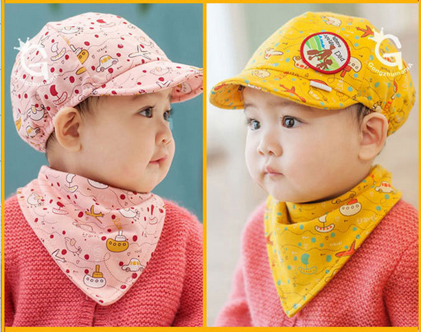 หมวกแก๊ปและผ้ากันเปื้อน Where Are We Going? Dad! เด็ก 3-24 เดือน