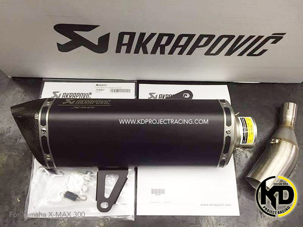 Akrapovic Slip on Yamaha X Max300 Black Color