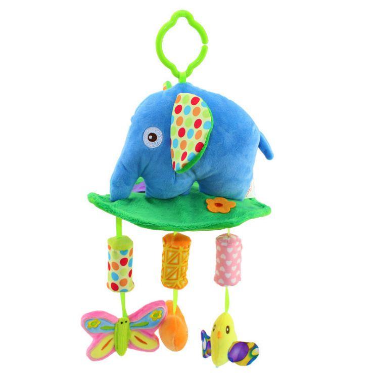 ตุ๊กตาโมบายผ้าเสริมพัฒนาการ ช้างกรุ๊งกริ๊ง - HappyMonkey
