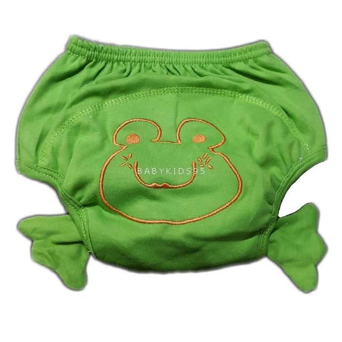 กางเกงฝึกฉี่ (เป้าหนา 4 ชั้น) size L -กบ เขียว