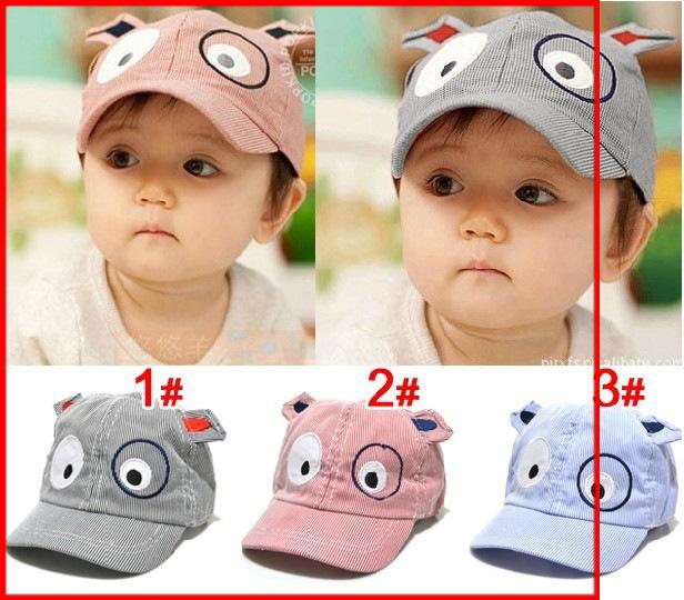 หมวกแคปเด็กอ่อน ปักรูปหน้าสัตว์ มีหูตั้ง น่ารัก ขนาด 6-18 เดือน