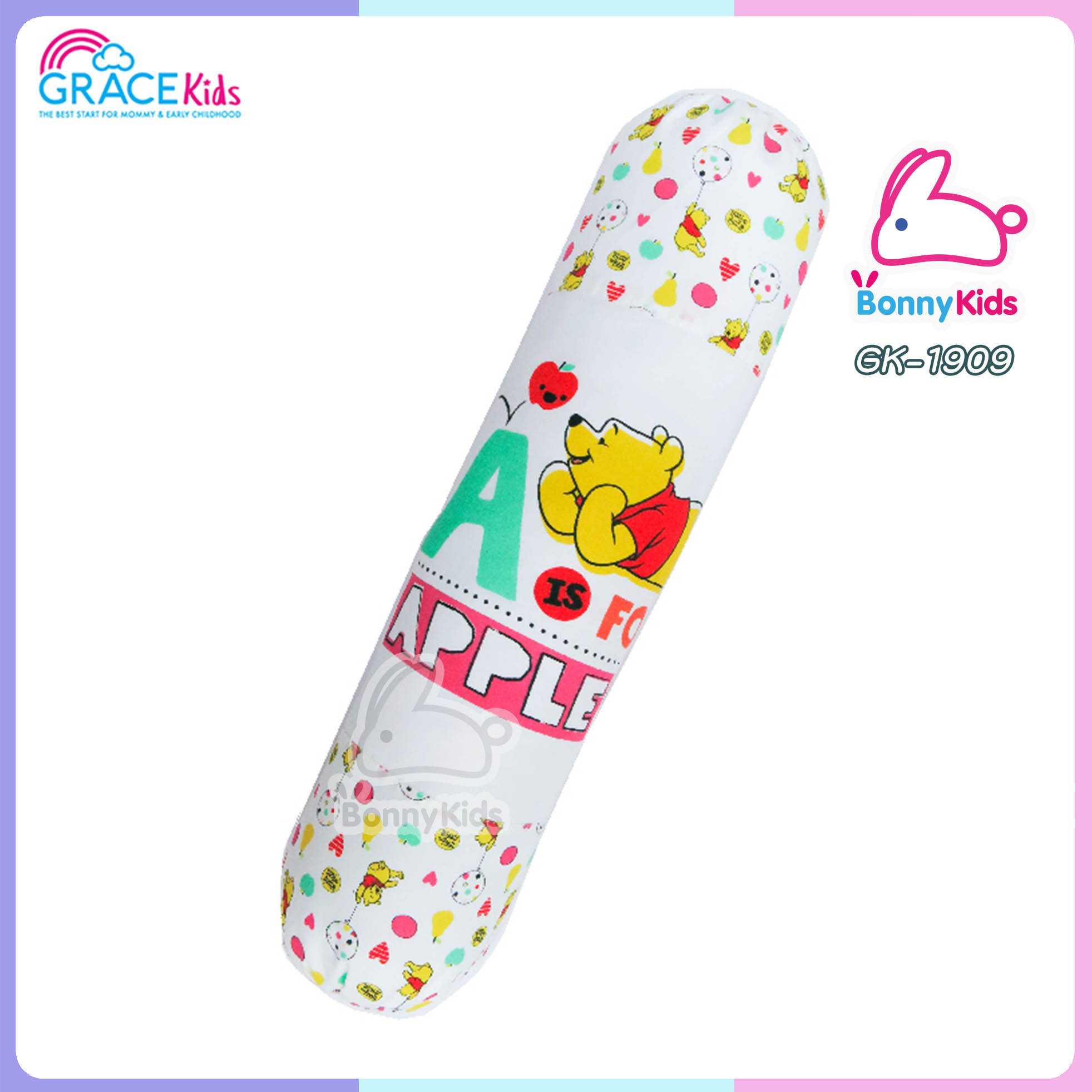 เกรซคิดส์ หมอนข้าง Pooh Apple ไซส์ M 15*23 นิ้ว