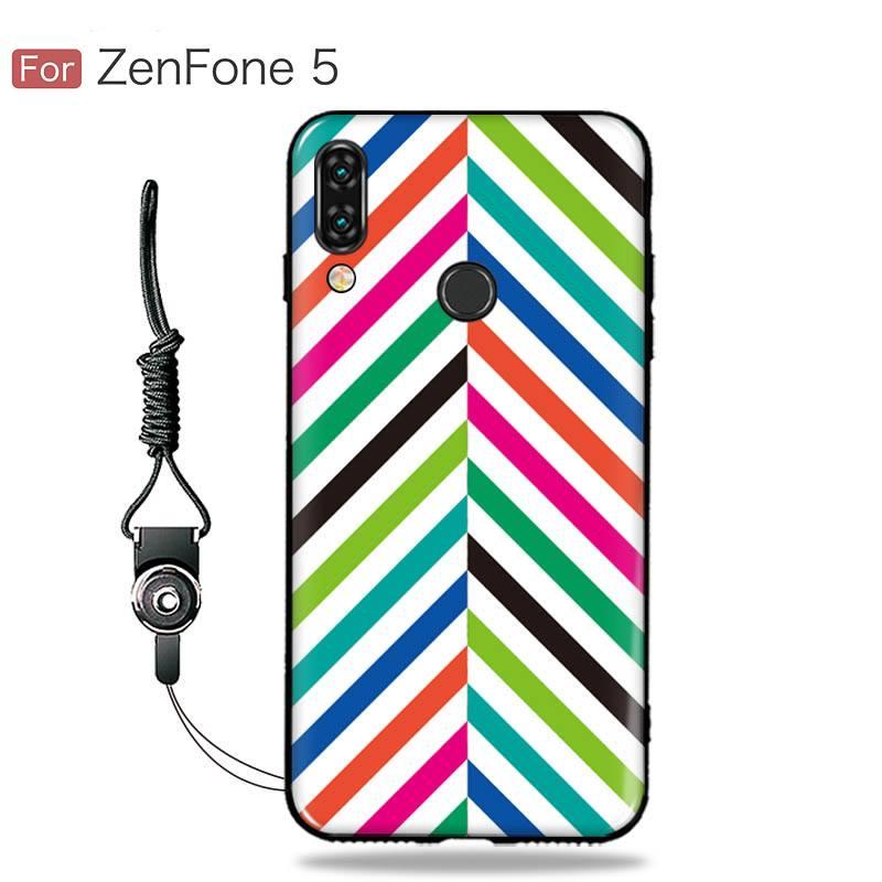 เคส Zenfone 5 (ZE620KL) เคสนิ่ม TPU พิมพ์ลาย (ขอบดำ + พร้อมสายคล้องมือถือ) แบบที่ 5