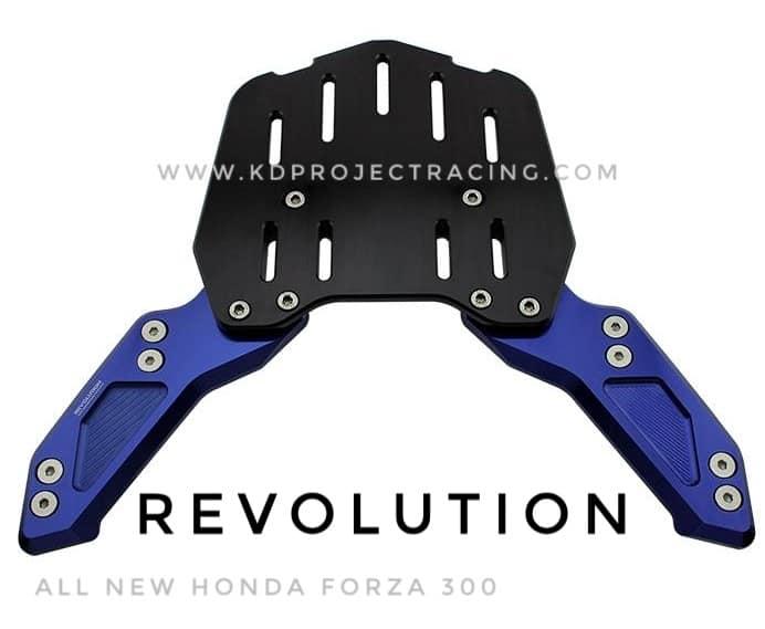 แร็คท้ายเบาะ cnc ยึดกล่องท้าย Revolution All New Forza 300