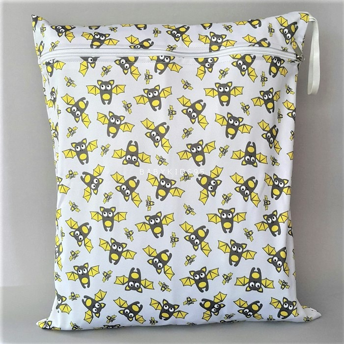 ถุงผ้ากันน้ำ 1 ช่อง Size: L (หูยางยืด) i5 -Bats