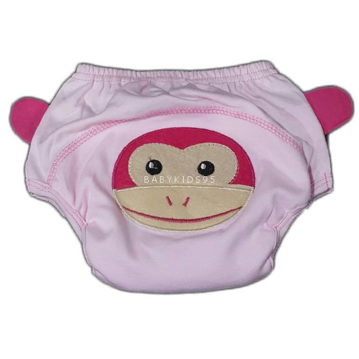 กางเกงฝึกฉี่ (เป้าหนา 4 ชั้น) size L -ลิงชมพู