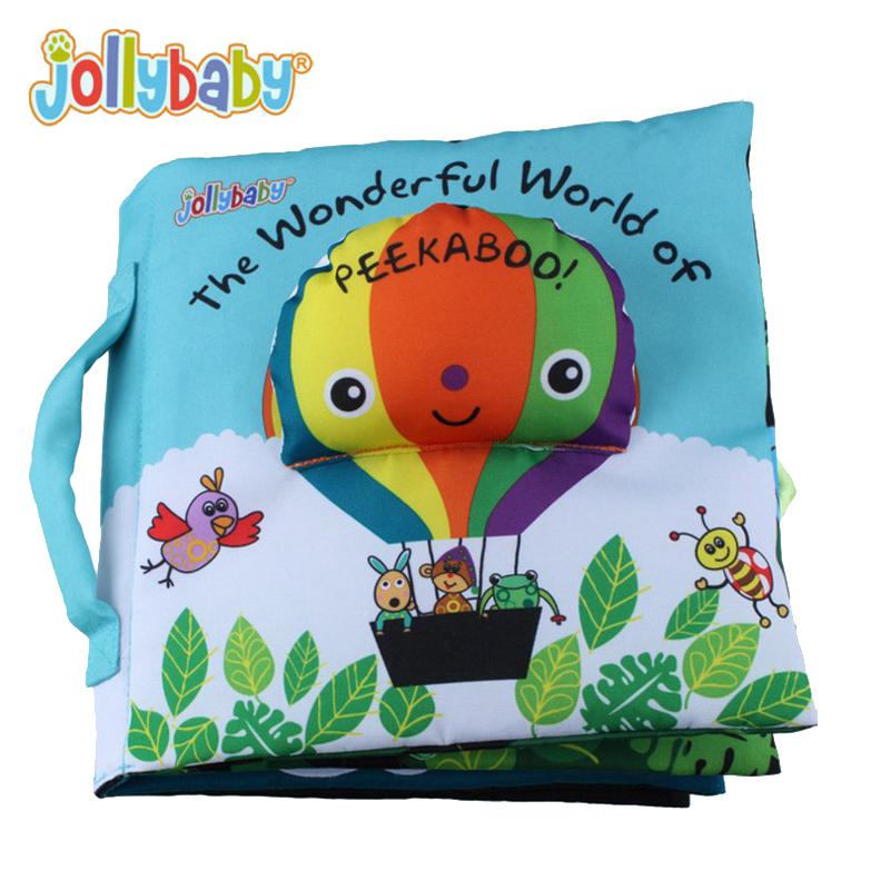 หนังสือผ้า The Wonderful World of PEEKABOO! by JollyBaby
