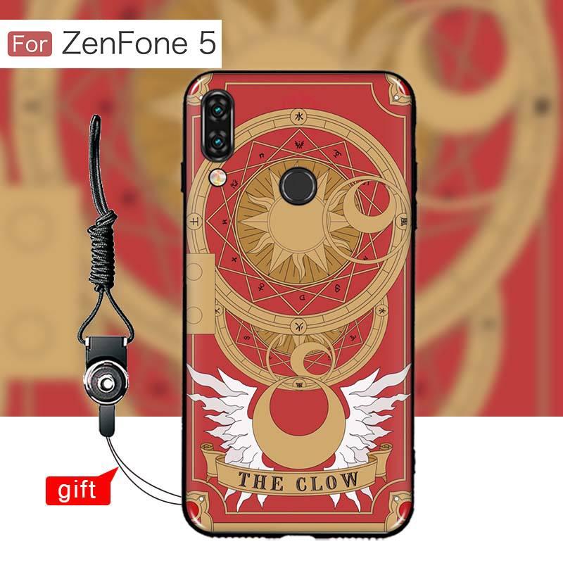 เคส Zenfone 5 (ZE620KL) เคสนิ่ม TPU พิมพ์ลาย (ขอบดำ + พร้อมสายคล้องมือถือ) แบบที่ 6 The Clow
