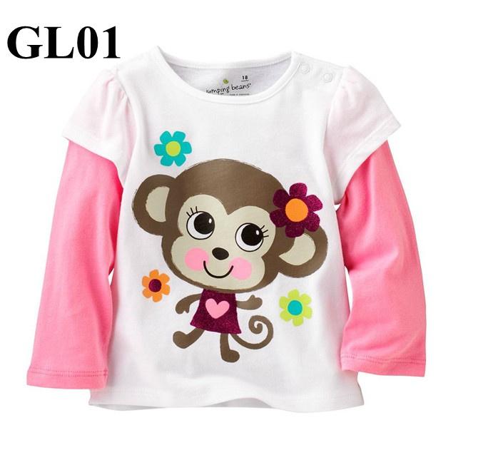 GL01 เสื้อแขนยาว Size 3T ผ้า cotton หนา นิ่ม ยืดหยุ่น เนื้อผ้าดีมาก ใส่สบาย