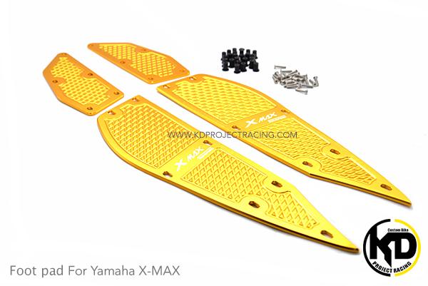 พื้นพักเท้าหน้า อลูมิเนียม CNC 4ชิ้น Yamaha X-MAX300