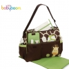 กระเป๋าใส่ของเด็กอ่อน Babyboom สีเขียวลายยีราฟ