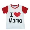 เสื้อยืดเด็กเล็ก I Love Mama สีแดง Size 100