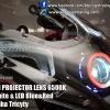 BI-XENON PROJECTOR LENS 6500K Fot Yamaha Tricity