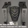 กันน้ำดีด2ขา MAD Rear Fender Tawin ABS For Honda MSX125 ,Kawasaki Z125 , GPX Demon