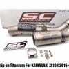 SC CR-T Slip on Titanium For KAWASAKI ZX10R 2016+