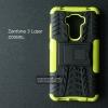 เคส Zenfone 3 Laser ( ZC551KL ) กรอบบั๊มเปอร์ กันกระแทก Defender สีเขียวอ่อน (เป็นขาตั้งได้)