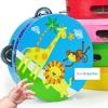 แทมบูรินไม้เคาะจังหวะสำหรับเด็ก การ์ตูนคละลาย - Tambourine musical educational toy