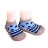 รองเท้าถุงเท้าพื้นยางหัดเดิน สีฟ้าลายดาว size 19-23