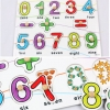 จิ๊กซอว์ไม้ถาดหลุม 0-9 และสัญลักษณ์ พร้อมจำนวนให้นับ