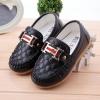 รองเท้าคัทชูเด็กเล็ก หนังสีดำ PU ประดับโลหะ Size 22-30