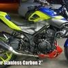 ท่อฟลูสแตนเลส Kangi Racing Carbon For Yamaha R3 , MT03
