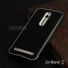 """เคส Zenfone 2 (5.5"""" นิ้ว) Bumper ขอบกันกระแทก สีดำ พร้อมฝาหลัง (หนัง PU) สีดำ (เกรด Premium)"""