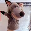 ตุ๊กตามือหมาป่า หัวใหญ่ ขนนุ่ม สวมขยับปากได้