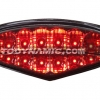 Ducati Monster 2009-2014 LED Tail Lights with Integrated Alternating Sequential LED Signals in Smoke Lens