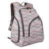 Ecosusi กระเป๋าเป้คุณแม่ ใส่สัมภาระสำหรับคุณแม่ มาพร้อมแผ่นรองเปลี่ยนผ้าอ้อม, สายคล้องรถเข็น, ช่องเก็บความร้อน-เย็น ทั้งสองด้าน (Pink Chevron)