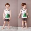 ชุดเสื้อกล้าม+กางเกงขาสั้นเด็ก ลายช้างกับนกน้อย size 120 130