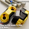 GTR Bar Clamp Set OEM Handle 22.2MM Gold