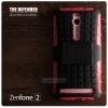 เคส ASUS Zenfone 2 (5.5 นิ้ว) กรอบบั๊มเปอร์ กันกระแทก Defender แดงอ่อน (เป็นขาตั้งได้)