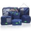 ชุดจัดกระเป๋าเดินทาง 7 ใบ จัดกระเป๋าเดินทาง ท่องเที่ยว ใส่เสื้อผ้า ชุดชั้นใน อุปกรณ์ห้องน้ำ กางเกงใน รองเท้า ถุงเท้า เครื่องสำอาง อุปกรณ์ไอที (Navy Blue)